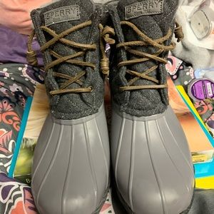 Gray Sperry Duck Boots